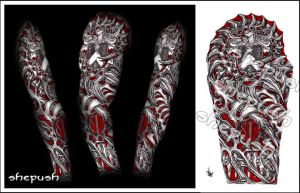 Bio mech sleeve by shepush