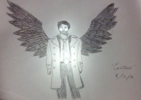 Experiment 504: Castiel Sketch by icantdraw777