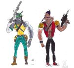 Rocksteady and Bebop fanart by JefimusPrime