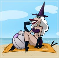 Evil Beach Lady by JaviDLuffy