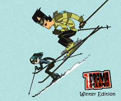 Winter GxT Skiing -Coloured- by Karannah