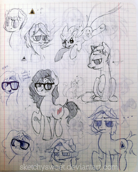 Pony Doodles 1 by SketchySweet