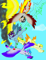 Best Young Flyers by DominoFeatherWolf