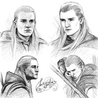 Legolas sketches by Manweri