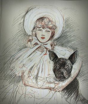 1904 girl and dog portrait by April-Mo
