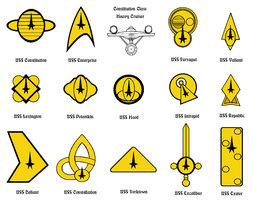 Constitution Class Mission Logos by Grimklok