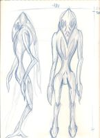 Frost Wolf Creature Sketch 1 by JoeCool42