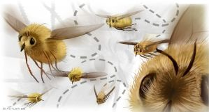 Bee Flies by Autlaw