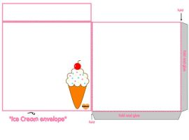 ice cream envelope by shabooty9