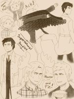 Supernatural Doodles by fantasyangel219