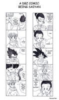 +A DBZ Comic: Being Saiyan+ by Psyconorikan