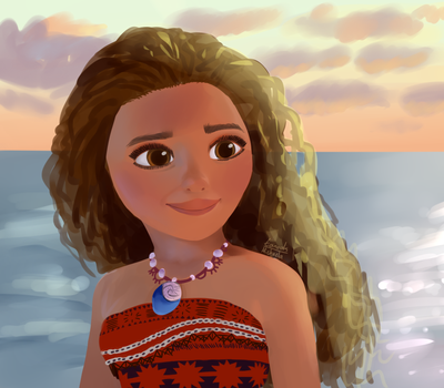 Moana (scene redraw painting) by tanooklings