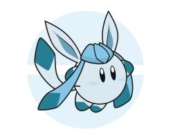 Kirby / Glaceon by Elenwae