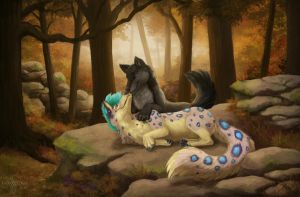 Just you and me by LadyKuraiArt