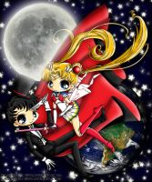 Sailor Moon and Tuxedo Mask by LicieOIC