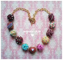 chocolate necklace by Miyaka89