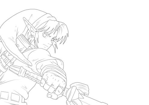 Link. :Lineart: by moxie2D