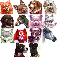 Headshot Tags by Kiboku