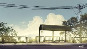 Bus Stop by mclelun