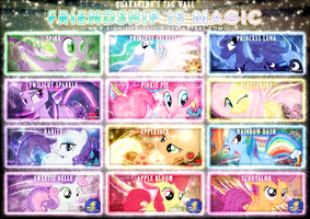 Friendship is Magic Tag Wall 2 by Paradigm-Zero
