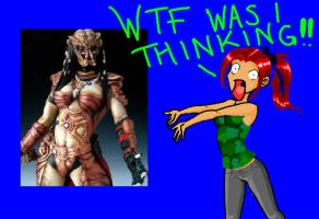 Female Predator Cosplay WTF by kouga-chan