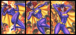 SIXTIES BATGIRL PERSONAL SKETCH CARDS by AHochrein2010