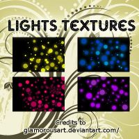 4 light textures by glamorousart