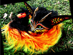 --SOLD--Posable Fantasy FIRE FOX! by Wood-Splitter-Lee
