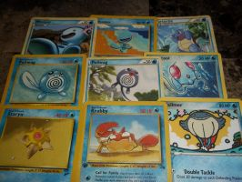 water pokemon card ~set 1~-for sale/trade- by goddessofdragon