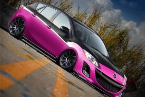Mazda 3 - Hot Pink by chopperkid44