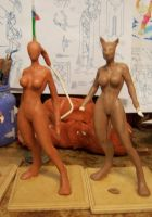 wip figures Dragons Blood by AlbertoCarrera