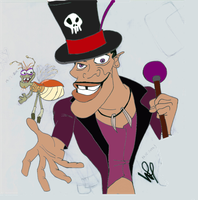 Dr Facilier and Ray coloured by wilterdrose