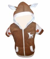 deer zip up hoodie by aprikotclothing