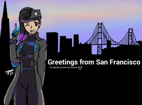 Overwatch - Sombra in San Francisco by ryuumi20