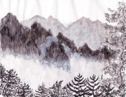 Misty Mountains by caitiedidd