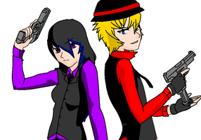 Sister and Brother mafia style by replica-luna