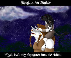 Takoja and her father by Dirke