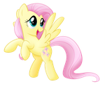 flying Fluttershy by rainbownspeedash