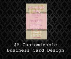 Customizable Business Cards - 05 by PointyHat