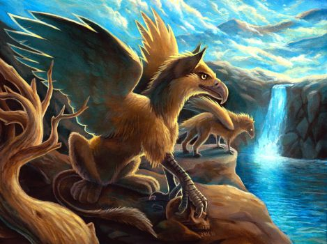 Gryphons by oaksketch