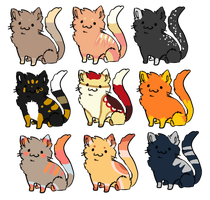 Cat Breedables [CLOSED] by redroseadopts