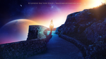 Riding towards the lights by RazielMB