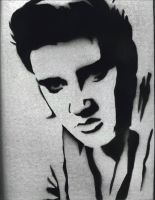 Elvis Stencil by punkdaddy74