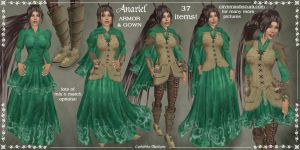 Anariel Armor + Gown Set by Elvina-Ewing