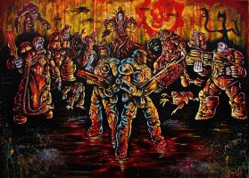 Gears of War Contest Painting by VanZanto