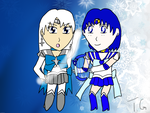 Chibi Silver Snow and Mercury-2nd Place Prize- by Trevor911