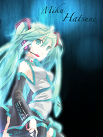 Hatsune Miku poster by Romille