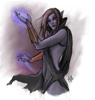 The Gloomy Sorceress by thyghostboy