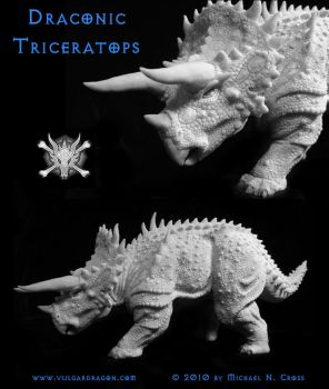Draconic Triceratops by vulgardragon