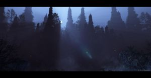 Moonlight Matte Painting Practice by TheArtofSaul